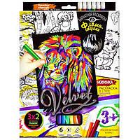 Набор для творчества: Бархатная раскраска фломастерами RIY/0-82