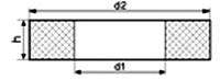 Кольцо резиновое Н036-69.303 прямоугольного сечения по чертежу (Украина)
