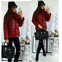 Женская демисезонная красная куртка