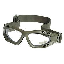 Очки десантные защитные MIL-TEC AIR PRO Olive Clear, 15615401