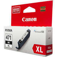 Черный картридж canon cli-471bk xl pixma mg5740/mg6840 black (0346c001)