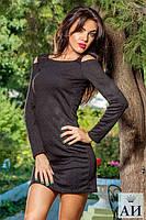 Короткое женское платье вязка