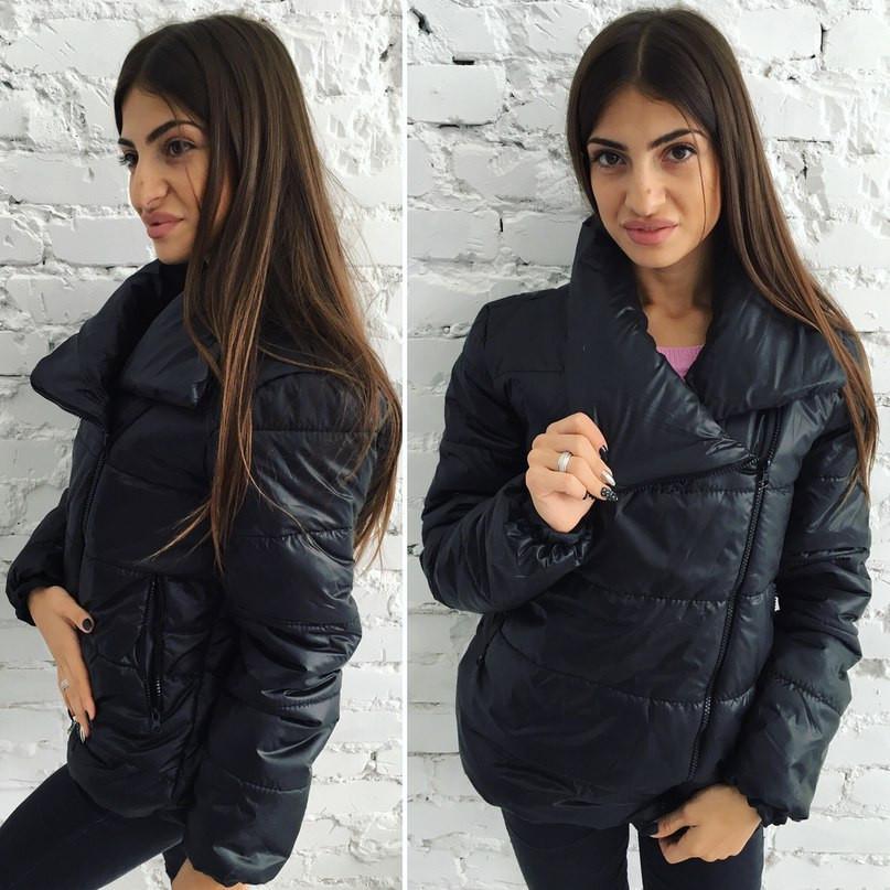 ef62cf6f75a Женская куртка косуха плащевка+синтепон -