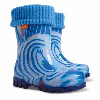 Резиновые сапоги DEMAR TWISTER LUX PRINT hh (Зебры голубые)