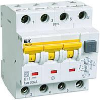 Автоматические выключатели дифференциального тока АВДТ34 C16 30мА IEK