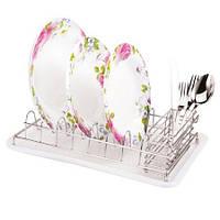 Сушка для посуды с отделением для столовых приборов