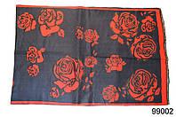 Купить кашемировый палантин Роза темно-синий