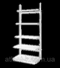Стеллаж металлический прямой на стяжках, высота 1900 мм