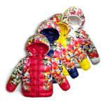 Детская куртка для девочки в цветах