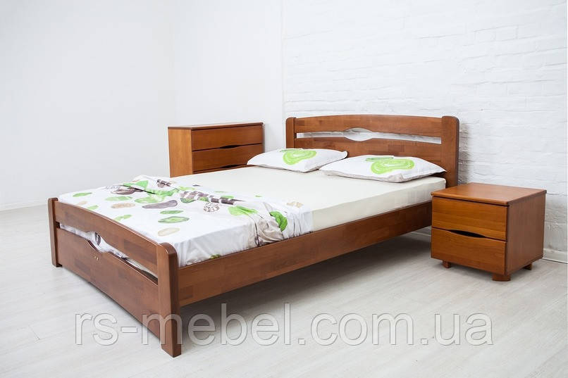 """Кровать двухспальная """"Нова с изножьем"""", дерево ( ТМ Олимп)"""