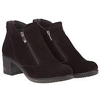 Женские ботильоны Selesta (замшевые, на удобном каблуке, стильные, практичные)