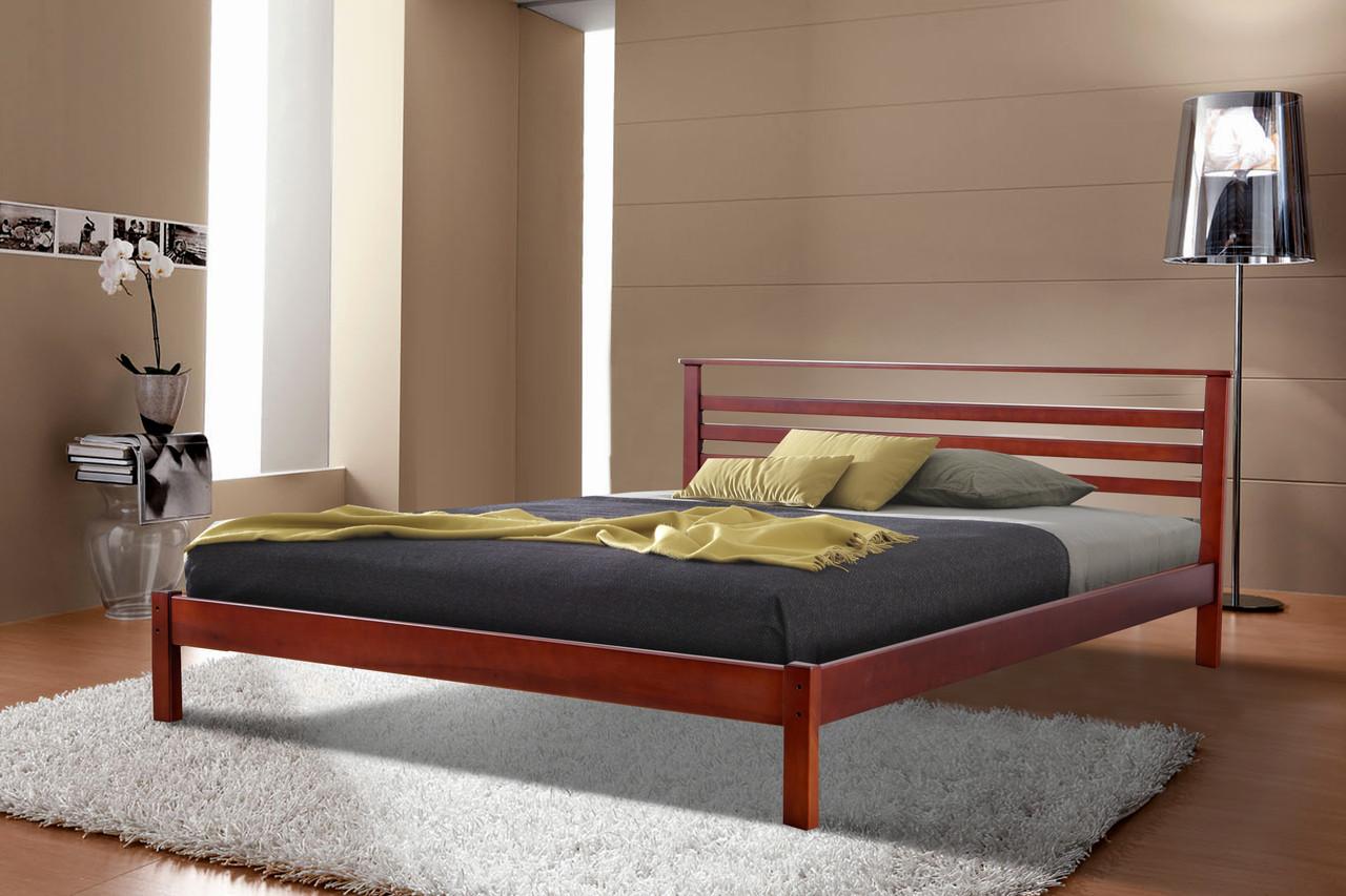 Кровать Диана (1,6 м.) (ассортимент цветов) (Ольха)