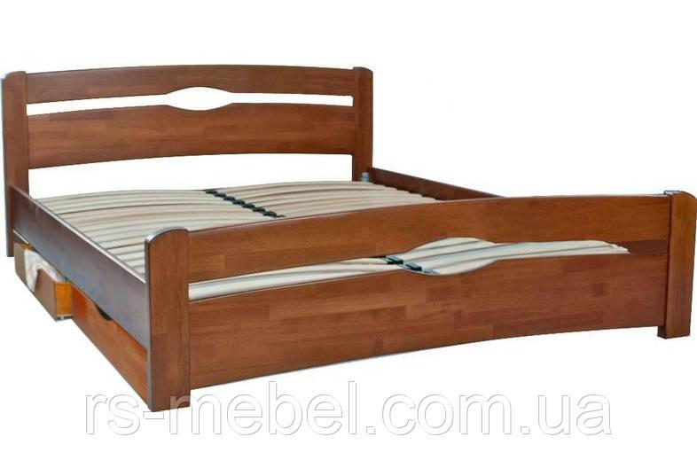 """Ліжко двоспальне """"Нова з ящиками"""", дерево ( ТМ Олімп)"""
