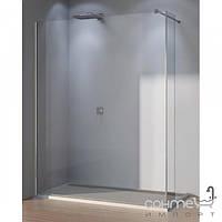 Душевые кабины, двери и шторки для ванн Liberta Душевая перегородка с боковой стенкой Liberta Pari 700x2000 профиль хром, стекло рисунок 8 мм