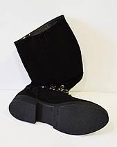 Зимние замшевые сапоги с отделкой Olli 48-2450, фото 3