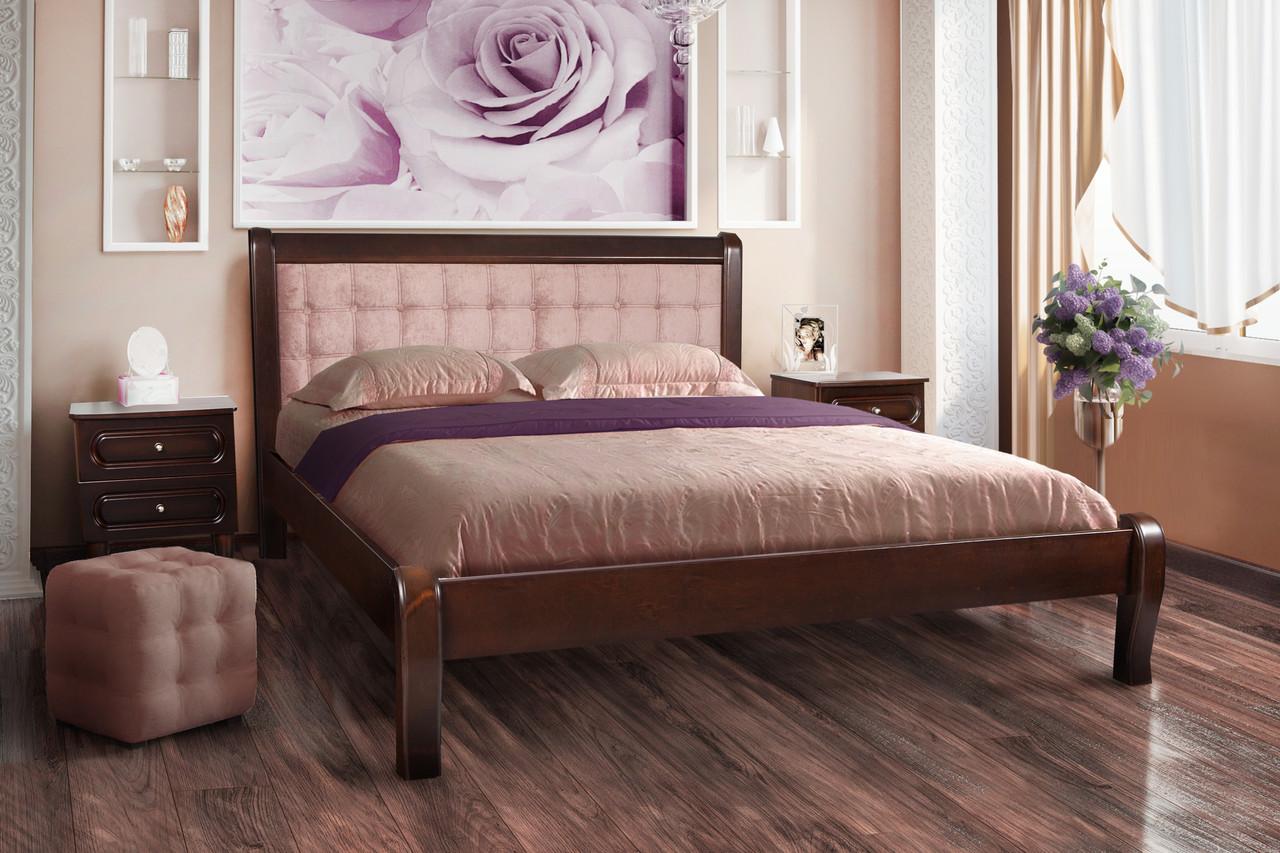 Кровать Соната (1,6 м.) (темный орех) (Клен)