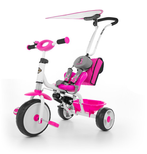 Велосипед Boby Deluxe с подножкой ТМ Milly Mally (Польша), розовый