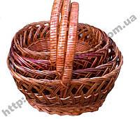 Набор плетеных пасхальных  корзин 4 шт