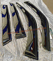Дефлекторы окон (ветровики) COBRA-Tuning на SUBARU IMPREZA II WAGON 2000-2007