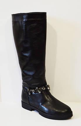 Зимние кожаные сапоги с отделкой Olli 48-2450, фото 2