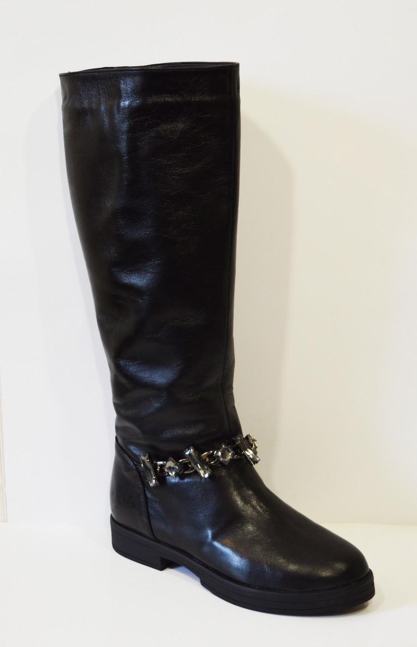 Зимние кожаные сапоги с отделкой Olli 48-2450