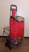 Тележка с сумкой и сиденьем C302-1, 50 кг., фото 1