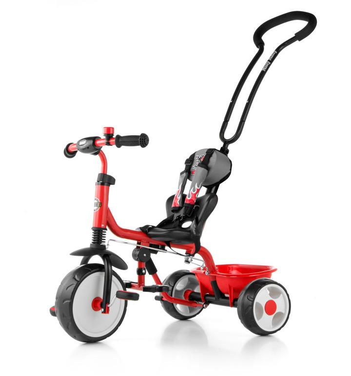 Велосипед детский трехколесный Boby Milly Mally с подножкой (Польша)