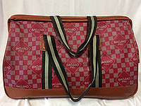 Дорожная женская сумка саквояж красная