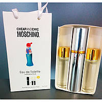 Подарочный набор, eau de  toilette Moschino Cheap and Chic  (Москино Чип энд Чик + 2 запаски, 3*15 мл