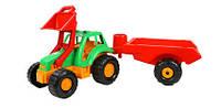 Игрушечный пластиковый трактор Орион 993 с прицепом