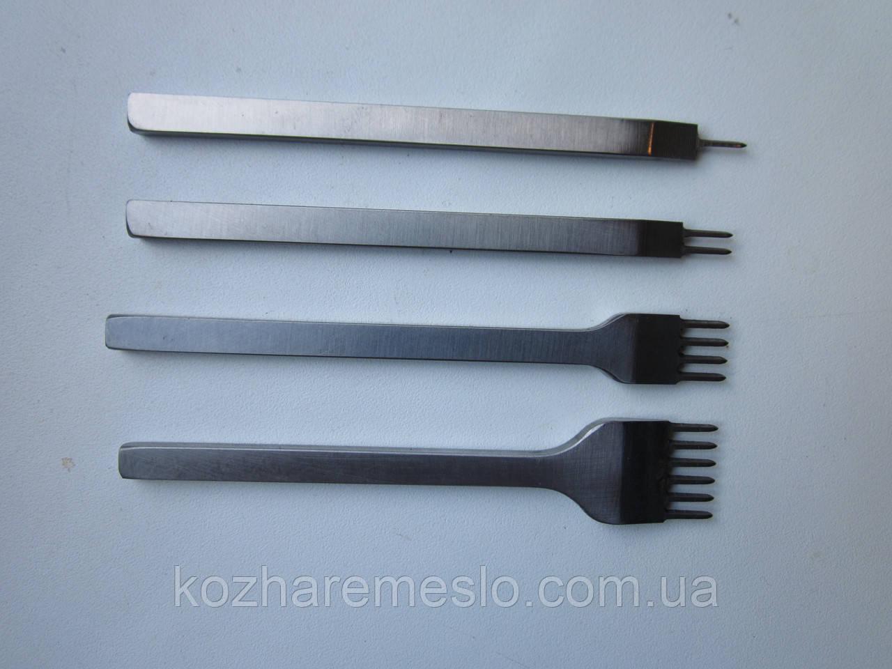 Пробойники шаговые (вилковые) для кожи шаг 5 мм