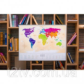 Скретч карта мира Travel Map Gold