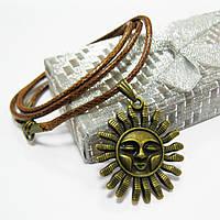 """Кулон на шею """"Античное солнце"""", бронза"""