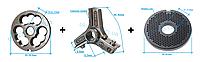 Комплект полуунгер R70 с решеткой 2 мм + нож со сменными лезвиями