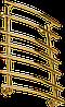 Полотенцесушитель Марио Марио золото, бронза