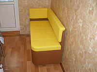 """Мягкий диван с нишей для маленькой кухни """"Кубис R"""""""