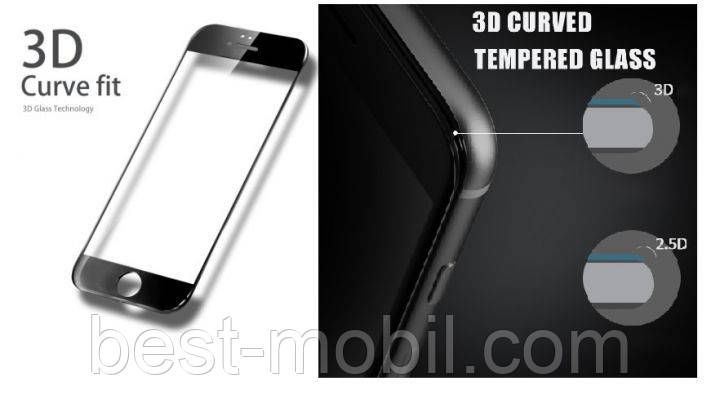 3D curved black tempered glass for iPone 6 plus/6s plus
