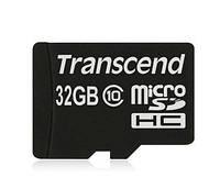 Карта памяти Transcend micro SDHC 32GB class 10 + SD