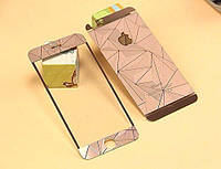 Diamond rose gold temperd glass 2in1(front+back) for iPhone 6/6s