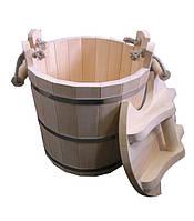 Запарник для бани с крышкой 25л (Липа)