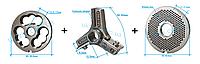 Комплект полуунгер R70 с решеткой 3 мм + нож со сменными лезвиями