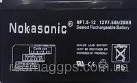 Аккумуляторная батарея NOKASONIK 12v-7.5 ah 2200 gm, аккумулятор 12V 7,5Ah