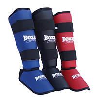 Защита голени и стопы для карате Boxer размер М синий