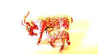 Брошь Козочки (мама коза и маленькая козочка в камнях)