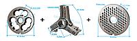 Комплект полуунгер R70 с решеткой 4,5 мм + нож со сменными лезвиями
