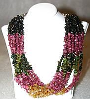 Ожерелье / Бусы из натурального ТУРМАЛИНА