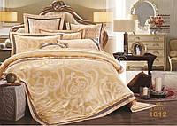 Жаккардовое постельное белье 1612 сатин-люкс 100% хлопок ТМ TIARE Украина евро комплект