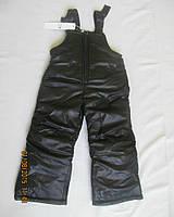 Детские зимние брюки полукомбинезон Черный, 104 см