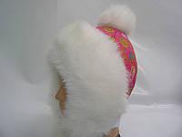 Шапка - Снежка (малиновая сердечки)