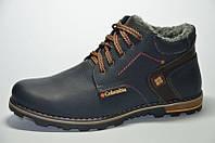 Кожаные мужские зимние ботинки Columbia , синие